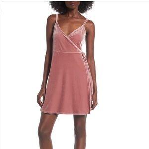 BP Velvet Wrap Dress